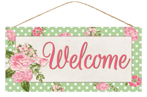 "12.5"" Sweet Floral Welcome Sign"