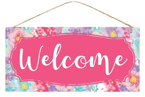 "12.5"" Floral Bloom Welcome Sign"