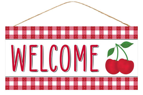 "12.5"" Welcome Cherry Sign"