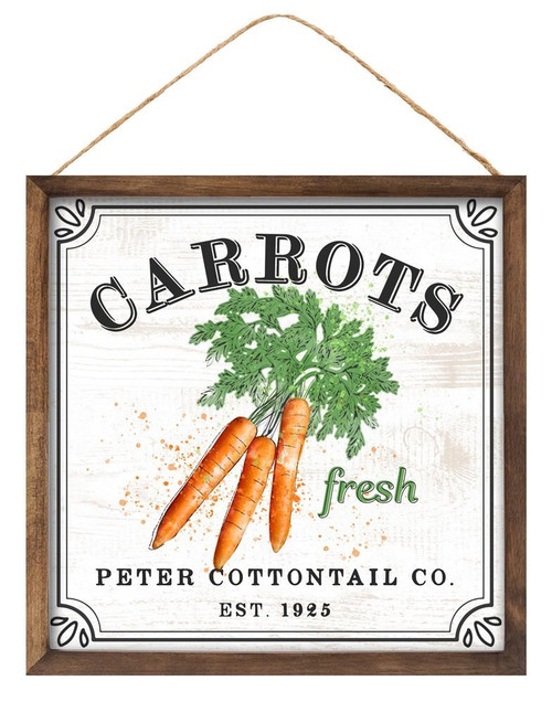 "10"" Fresh Carrots/Peter Cottontail Sign"