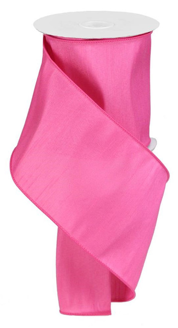"4"" Faux Dupioni Ribbon: Hot Pink - 10 YD"