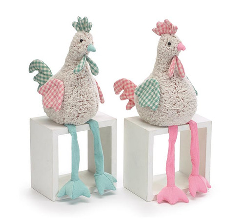 Soft Furry Dangle Leg Roosters