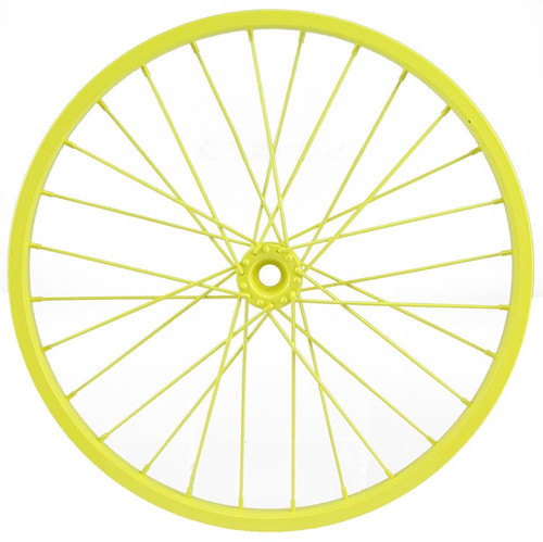 "16.5"" Decorative Bicycle Wheel: Yellow"