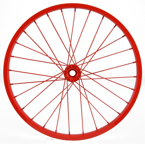 "16.5"" Decorative Bicycle Wheel: Red"