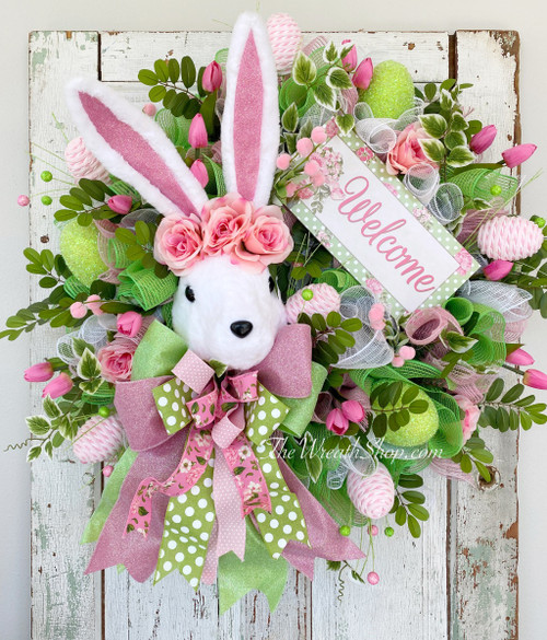 Spring Welcome Bunny Wreath