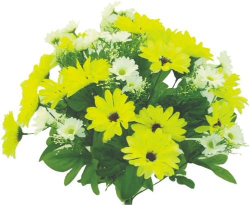 "17"" Wild Daisy Bush: White/Yellow"