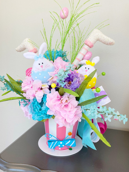 Whimsical Easter Arrangement with Hat