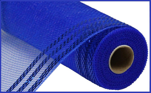 "10.5"" Metallic Border Mesh: Royal Blue/Blue"