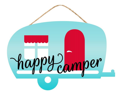 "12"" Happy Camper Sign"