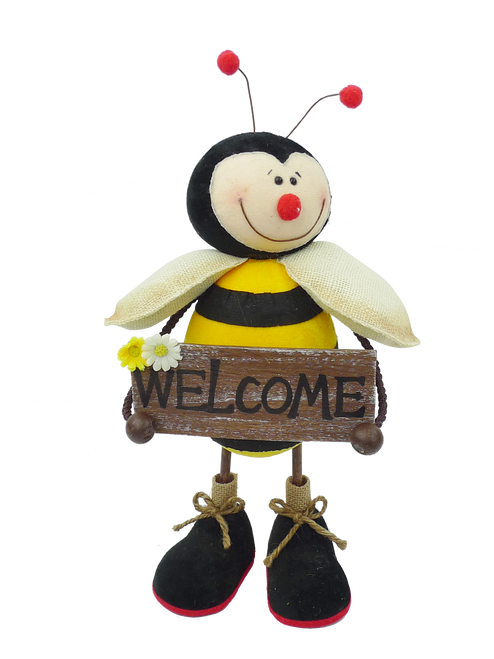 Standing Bee Welcome Sign