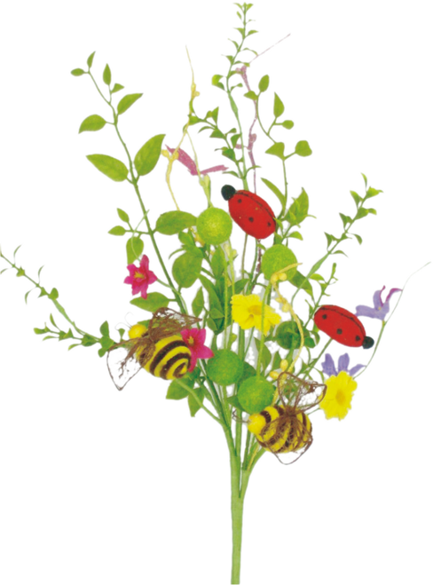 "24"" Ladybug Bee Wildflower Spray"
