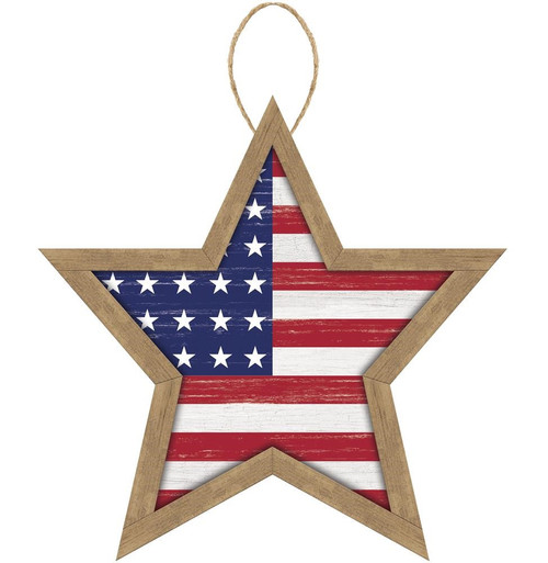 "12"" MDF Stars and Stripes Sign"