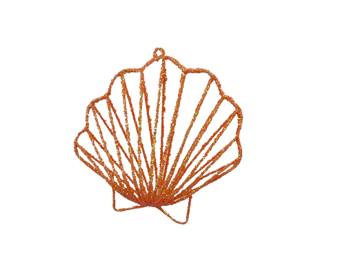 Coral Shell Ornament - 6""