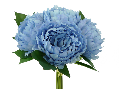 "15"" Peony Bouquet: Dusty Blue (5)"