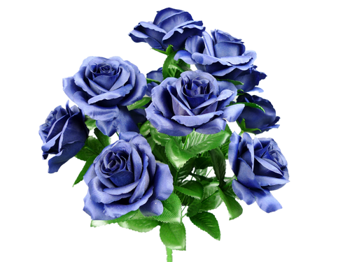 "17"" Lillian Rose Bush: Navy Blue (10)"
