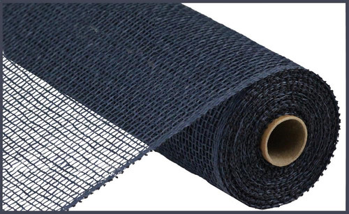 "10"" x 10yds Poly Burlap Mesh: Navy Blue"
