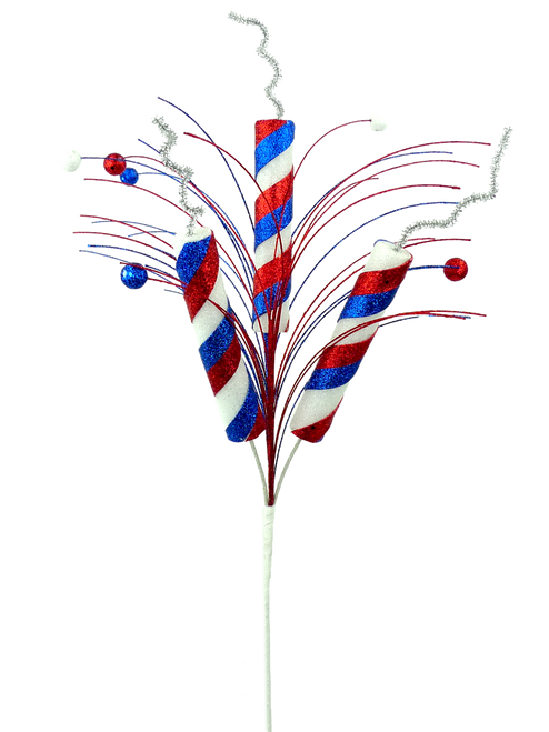 Patriotic Firecracker Ball Spray - 28""