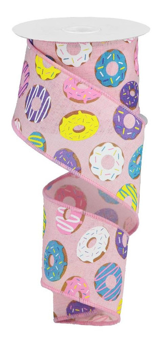 "2.5"" Donut Ribbon: Pink (10yds)"