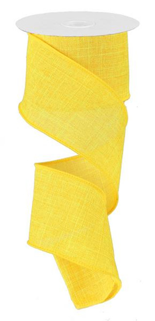 "Yellow Royal Faux Burlap Ribbon - 2.5"" x 10Yd"