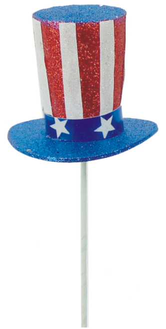 "12"" Patriotic Hat Pick"