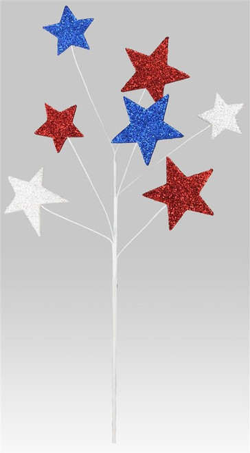 Patriotic Glitter Star Spray