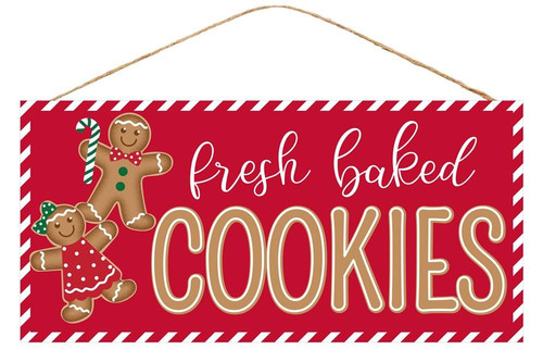 "12.5"" Fresh Baked Cookies Gingerbread Sign"