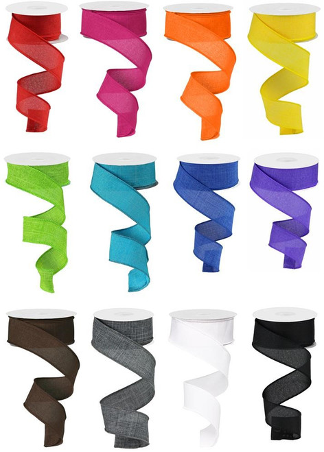 "1.5"" Basic Solid Ribbon Assortment, Box of 12"