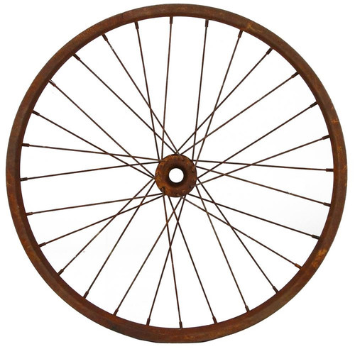 "16.5"" Decorative Bicycle Wheel: Rust"