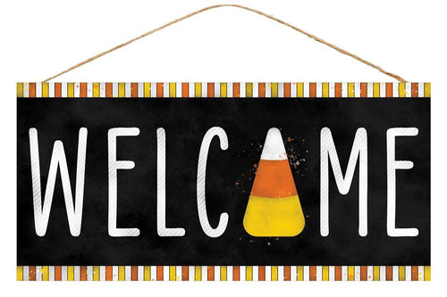 "12.5"" Welcome Candy Corn Sign"