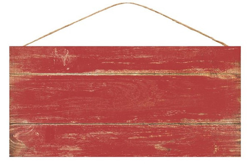 """12.5"""" Rustic Blank Sign: Barn Red"""