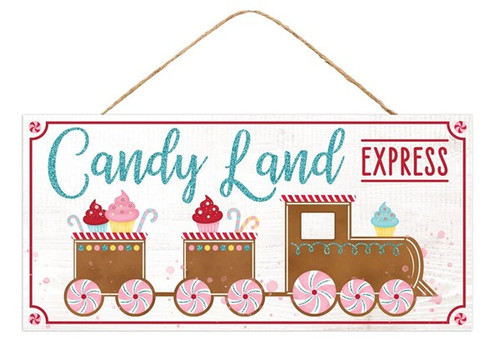 "12.5"" Candy Land Express Sign"