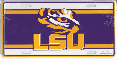 Louisiana State University LSU Novelty License Plate