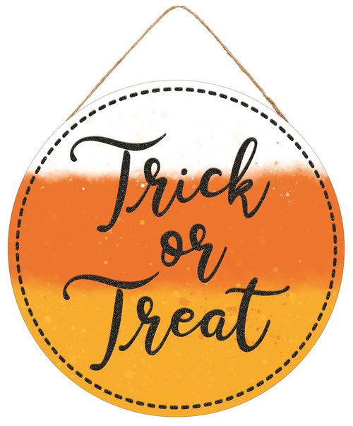 "10.5"" Round Trick or Treat Sign"