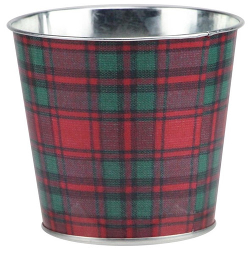"5"" Tartan Plaid Pot Cover"