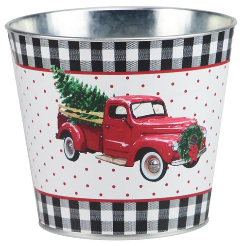 "5"" Vintage Truck w/ Tree Pot Cover"