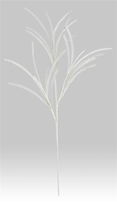 "31"" Glitter/Paper Grass Spray: White"