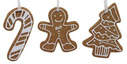 Assorted Jumbo Gingerbread Ornament