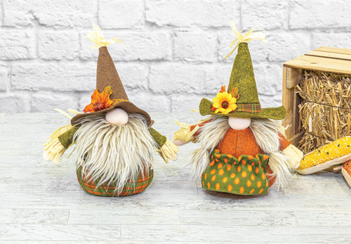 "10"" Tabletop Harvest Gnome Sitters"