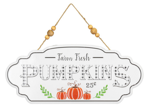 Farm Fresh Pumpkins Metal Sign