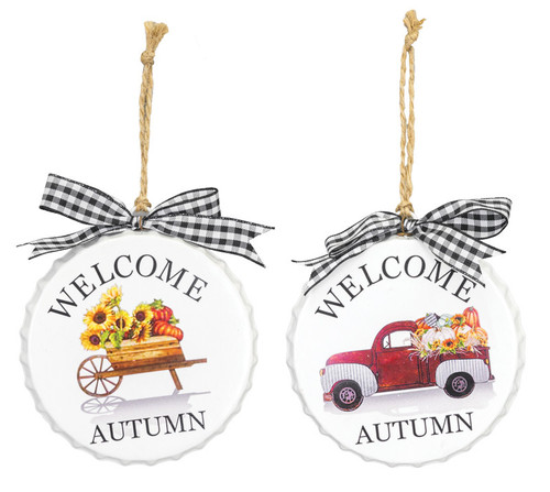 """4"""" Welcome Autumn Ornaments"""