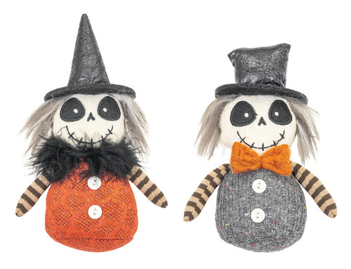 "6"" Skull/Stripe Ghost Ornaments"