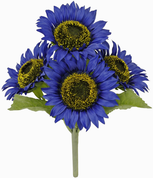 "11"" Sunflower Bush: Blue (4)"