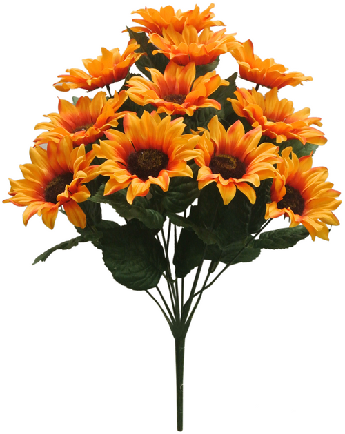 "19"" Orange Sunflower Bush (11)"