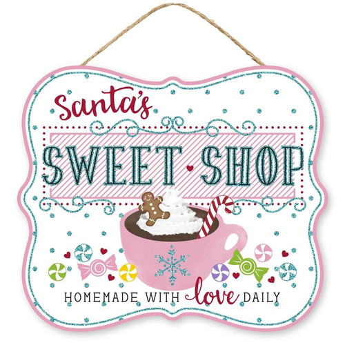 "10"" Santa's Sweet Shop Sign"