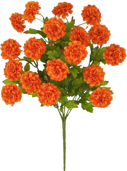 "16"" Zinnia Bush: Orange (9)"