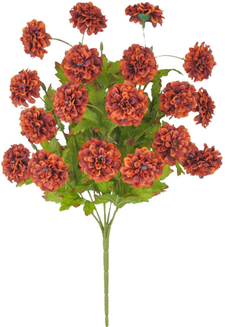 "16"" Zinnia Bush: Rust (9)"