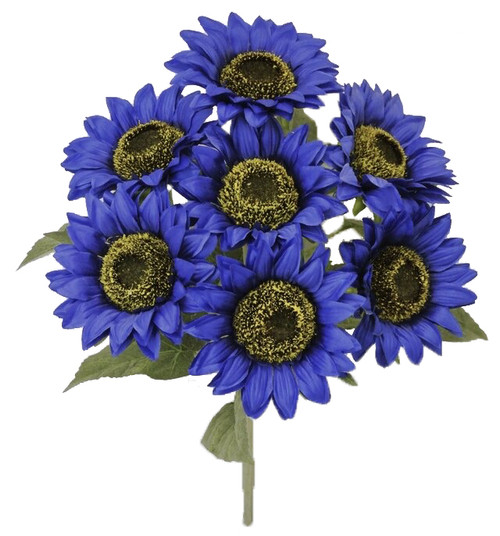 "18"" Sunflower Bush: Blue (7)"