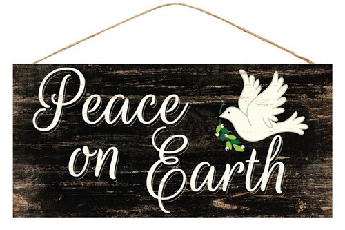 "12.5"" Peace on Earth w/ Dove Sign"