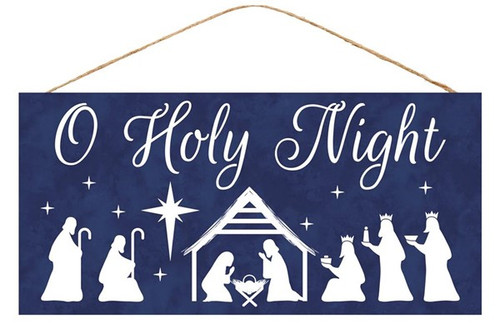 "12.5"" Oh Holy Night Sign"