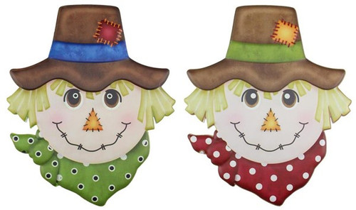 "12"" Embossed Metal Scarecrow - Assorted"